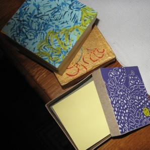 notepaper boxes