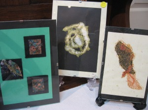 Framed fabric pictures